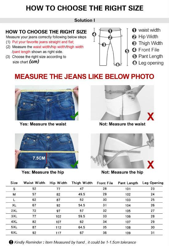 Размеры женских джинсов на алиэкспресс