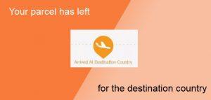 Your parcel has left for the destination country - перевод на русский