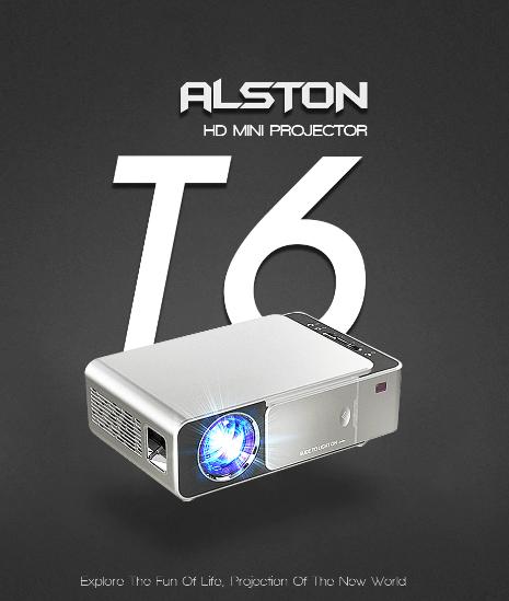 Проектор ALSTON T6 с Алиэкспресс